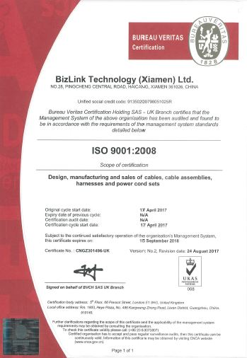 Bizlink Group - About BizLink - Manufacturing