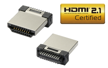HDMI 2.1 Wire-soldering Mount Plugs