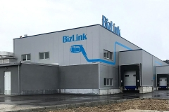 BizLink's warehouse and shipping docks of the new facility in Serbia
